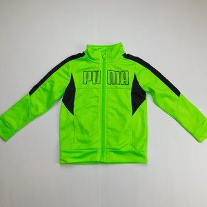 PUMA  Boys 2T Neon Green Spellout Track Jacket